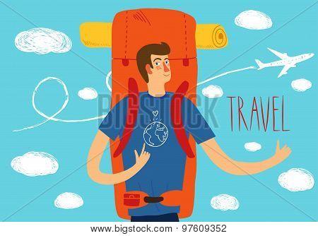 Backpacker Illustration