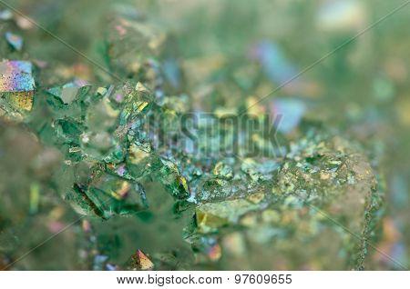 Crystals Agate Sio2 Silicon Dioxide. Macro