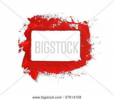 Red paint frame