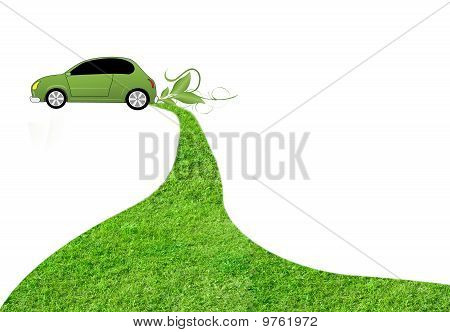 grass with eco car