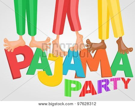 Illustration Of Three Boys Having Pajama Slumber Party