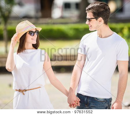 Young Couple Outdoors