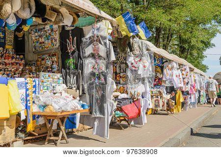 Souvenir Shops In Andriyivskyy Descent