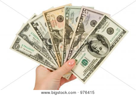 Dollars Banknotes In A Hand