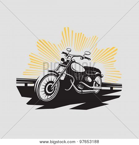 Motorcycle Label. Motorcycle Symbol. Motocycle Icon. Vector Illustration