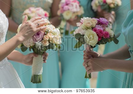 Fresh Bouquets Of Roses