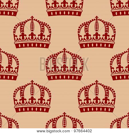 Royal crown seamless background pattern