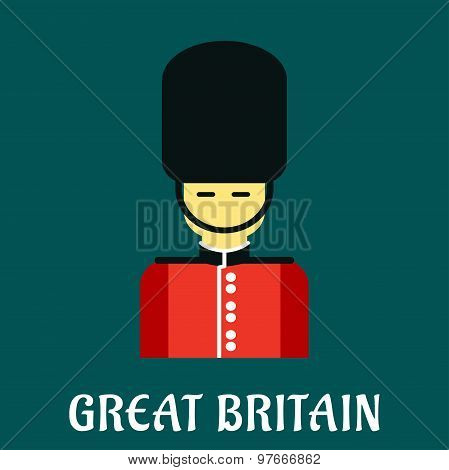 Queen guard soldier flat icon