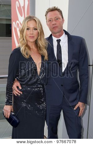 LOS ANGELES - AUG 1:  Christina Applegate, Martyn LeNoble at the The Dizzy Feet Foundation`s Celebration Of Dance Gala at the Club Nokia on August 1, 2015 in Los Angeles, CA