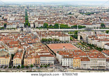 Bellecour District and place, Lyon, France