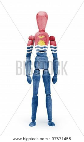 Wood Figure Mannequin With Flag Bodypaint - Kiribati