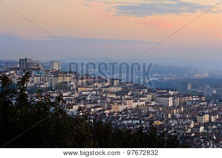 Morning Lights And Colors At Croix-rousse, Lyon, France