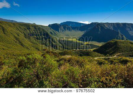 View Of Plaine Des Palmistes, Reunion Island