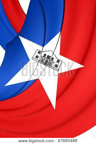 Flag Of San Antonio City, Texas.