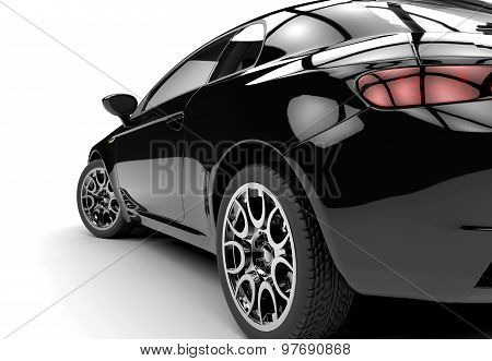 Back Of A Generic Black Car