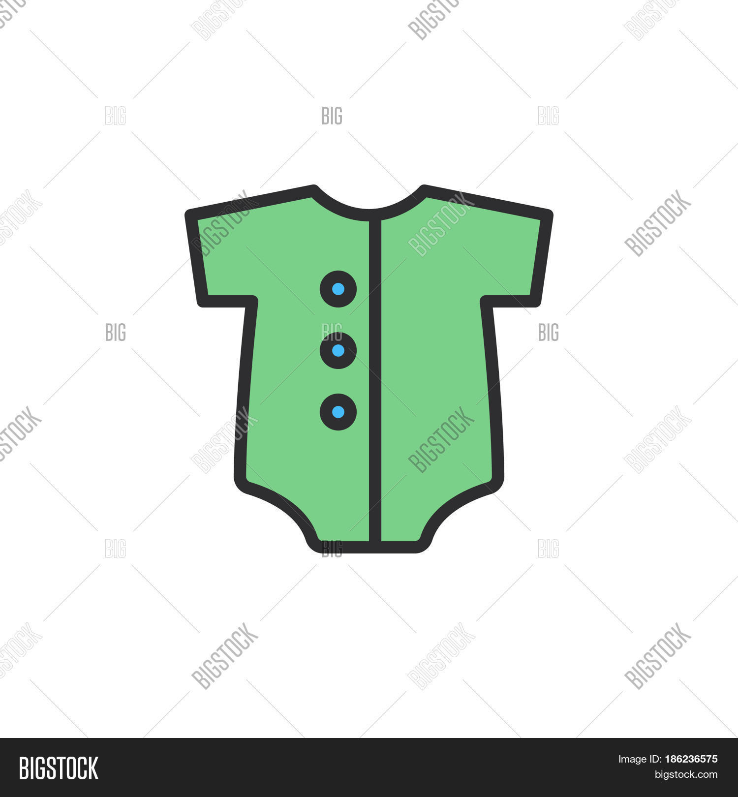 65b889f2d53 Baby romper filled outline icon line vector sign linear colorful pictogram.  Symbol logo illustration.