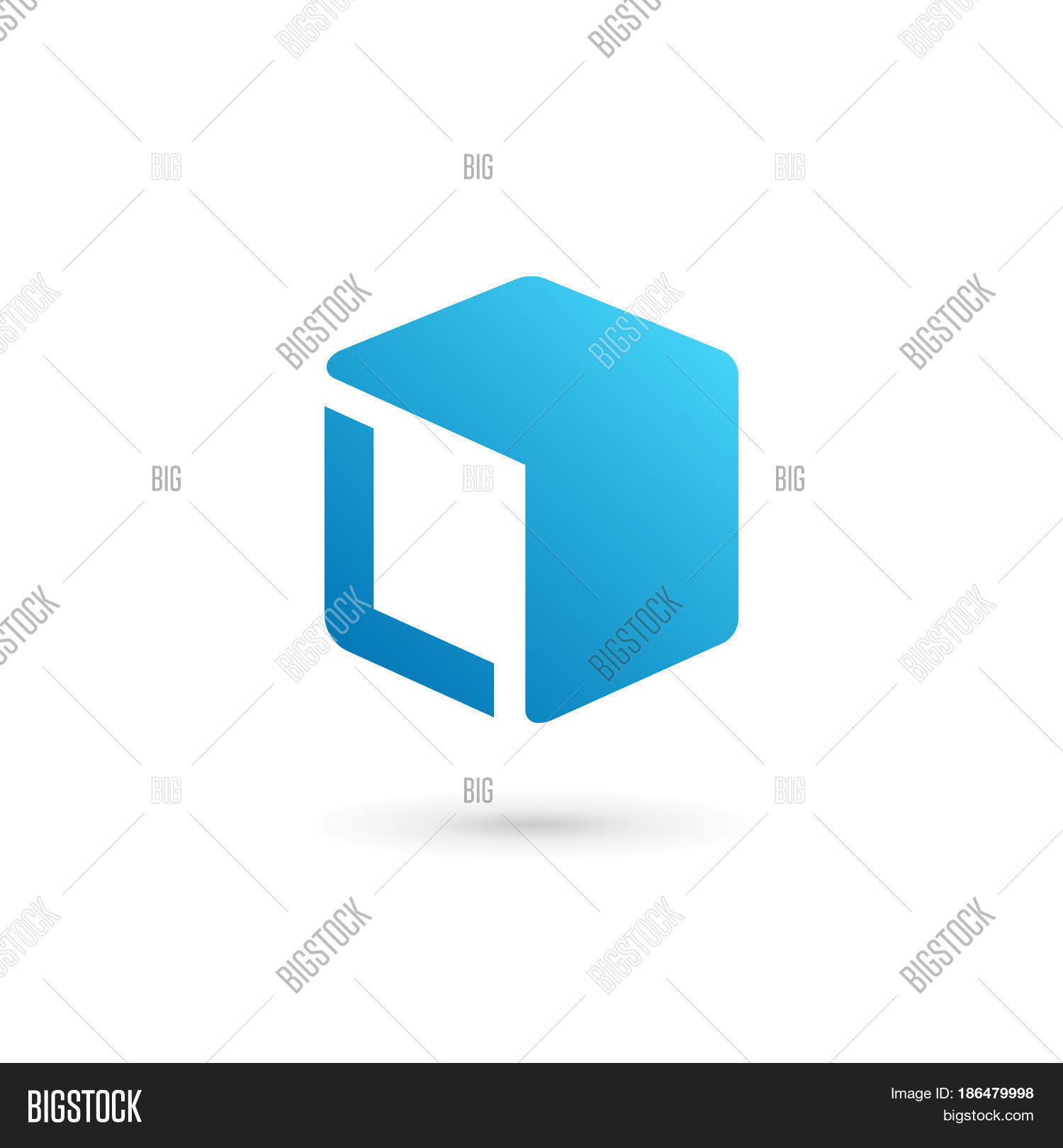 Letter L Cube Logo Vector Photo Free Trial Bigstock Diagram Template Icon Design Elements