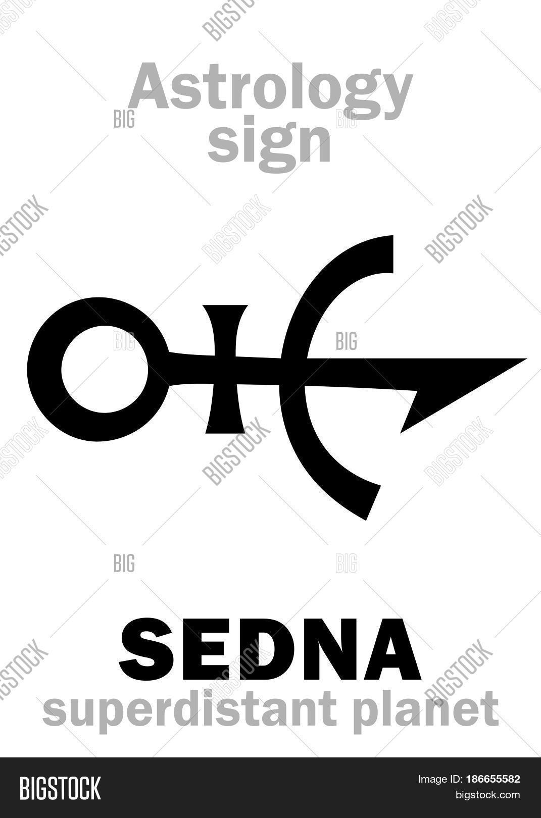 Astrology Alphabet Sedna Vector Photo Bigstock