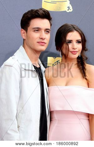 LOS ANGELES - MAY 7:  Gabriel Conte, Jess Bauer at the MTV Movie and Television Awards on the Shrine Auditorium on May 7, 2017 in Los Angeles, CA