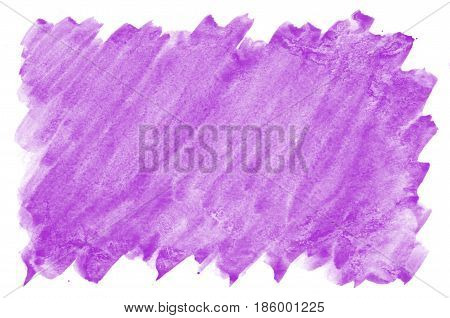 Abstract Watercolor Background Image Of Mixed Wet Spots Of Purple Color