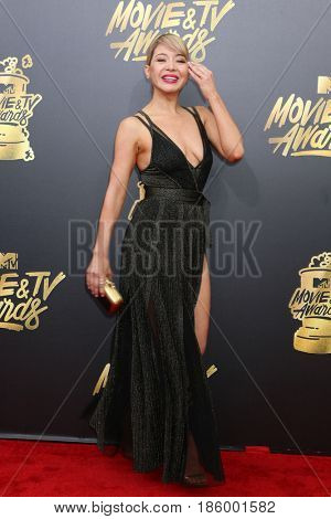 LOS ANGELES - MAY 7:  Katherine Castro at the MTV Movie and Television Awards on the Shrine Auditorium on May 7, 2017 in Los Angeles, CA