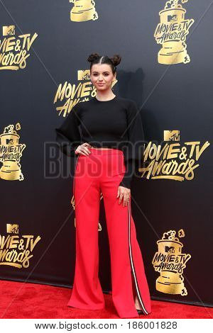 LOS ANGELES - MAY 7:  Rebecca Black at the MTV Movie and Television Awards on the Shrine Auditorium on May 7, 2017 in Los Angeles, CA