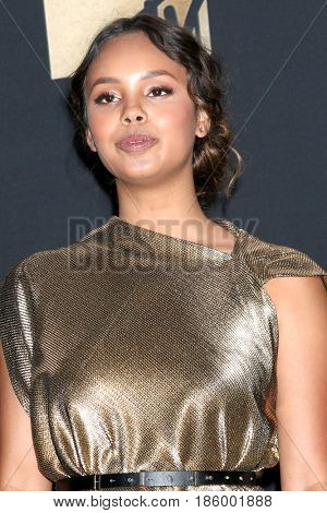 LOS ANGELES - MAY 7:  Alisha Boe at the MTV Movie and Television Awards on the Shrine Auditorium on May 7, 2017 in Los Angeles, CA
