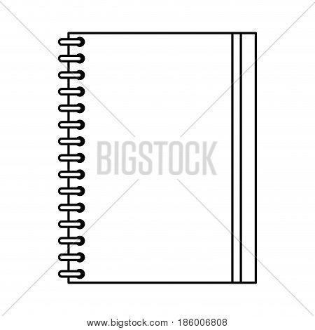 closed notebook icon image vector illustration design  single black line