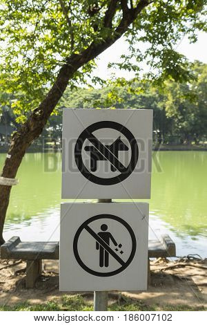 No Pet And Littering Sign