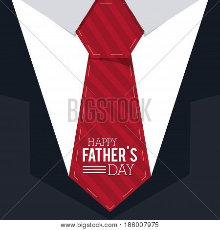 happy fathers day. greeting card. suit and tie background vector illustration