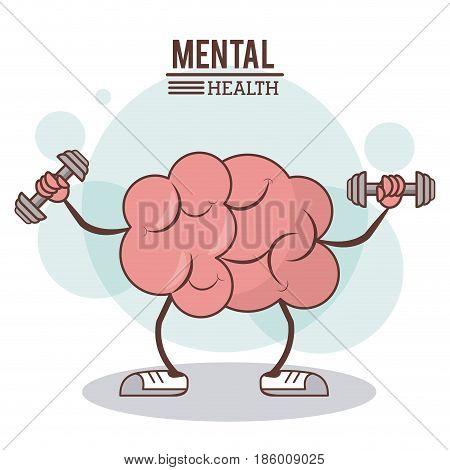 mental health concept. brain training exercise healthy image vector illustration vector illustration