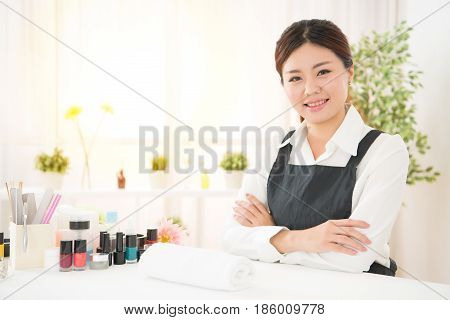 Ready To Showing Her Manicure Professional