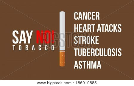Vector flat no tobacco day background collection stock