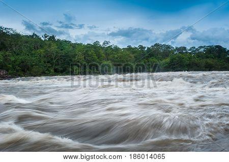 Flash flood - Flash flood in Thailand.