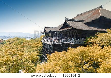 Kiyomizu-dera Temple, Famous Buddhist Temple In Kyoto, Japan