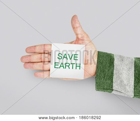 Save Earth Planet Environment Reponsibility Word