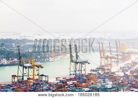Amazing View Of The Port Of Singapore And Keppel Harbour