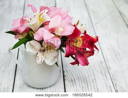 Beautiful Bouquet Of Pink Alstroemeria