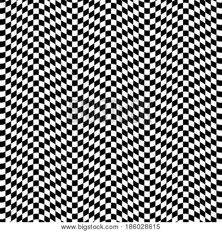 Vector seamless 3d abstract pattern. Optical illusion.