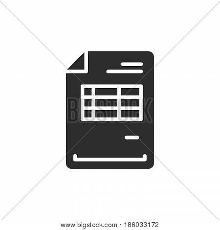Invoice document icon vector filled flat sign solid pictogram isolated on white. Symbol logo illustration. Pixel perfect
