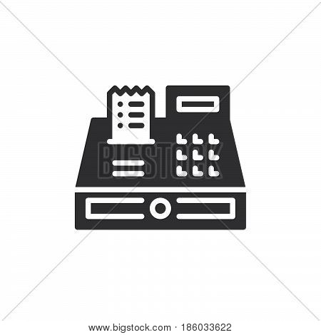 Cash register icon vector filled flat sign solid pictogram isolated on white. Symbol logo illustration. Pixel perfect