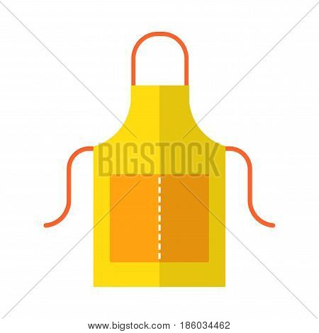 Apron, working and protective clothing for the kitchen, garden. Flat color icon. Object for design