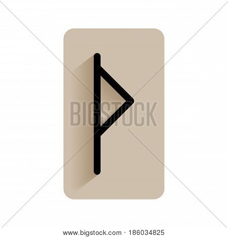 Thurisaz. Runic alphabet and letters. Flat icon on white background for divination, prediction. Vector