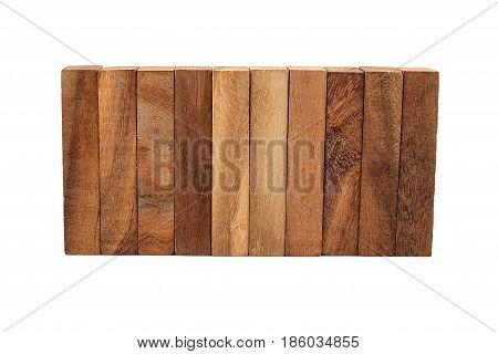 Blocks of wood isolated education Concept white background