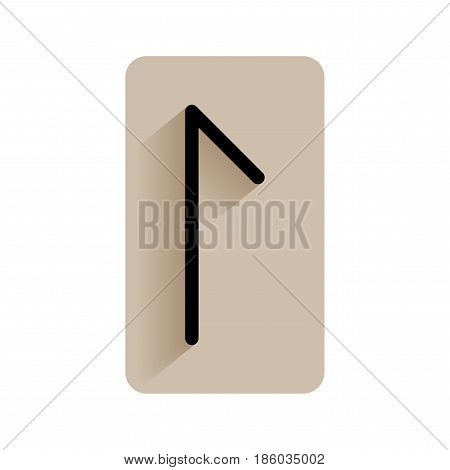 Laguz. Runic alphabet and letters. Flat icon on white background for divination, prediction. Vector