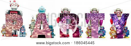 Party robot toys text