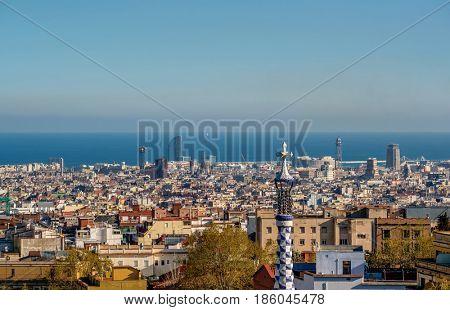 Barcelona cityscape overlook