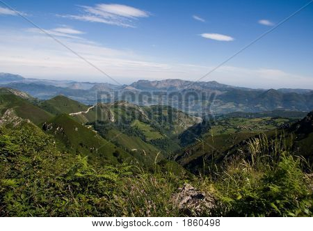 Blue Sky And Mountains