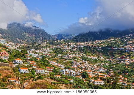 Panoramic view on Funchal - capital of Madeira