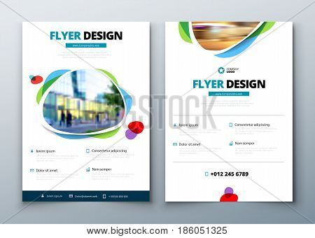 Flyer Template Layout Vector Photo Free Trial Bigstock